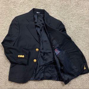 Brooks Brothers Boys Blazer 8 Black Gold Button
